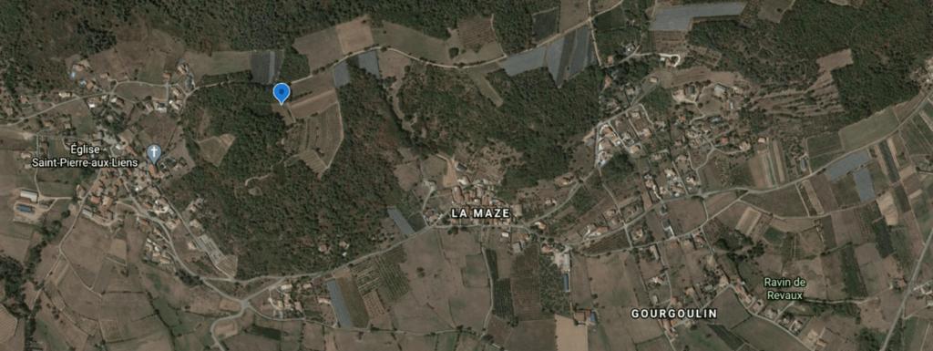 Emplacement de l'antenne surle secteur de Montcaissard