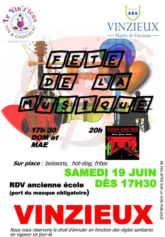 Fête de la musique samedi 19 juin