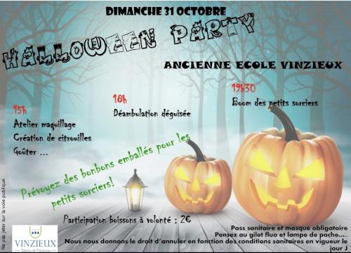 Halloween à Vinzieux le dimanche 31 octobre